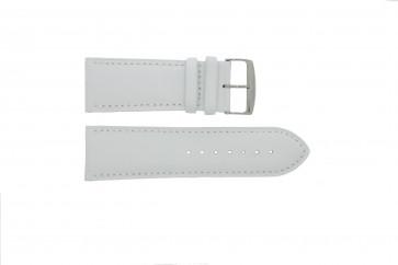 Genuine leather watch strap white 32mm
