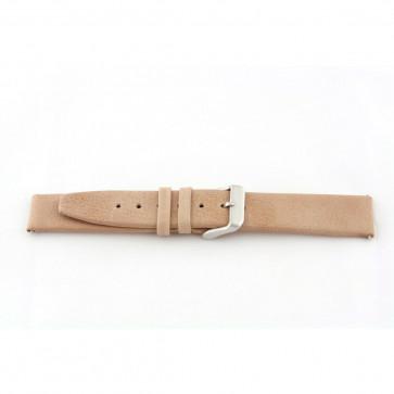 Watch strap genuine leather beige 24mm G33