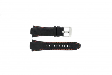 Watch strap Seiko 7T62-0ED0 / H023 00C0 / SNJ007P Leather Black 15mm