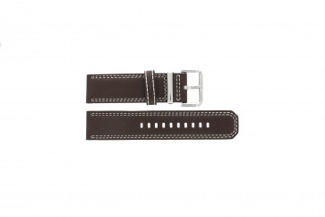 Watch strap Seiko 7T62-0HM0 / SNAB71P1 / 4LP6JB Leather Brown 24mm