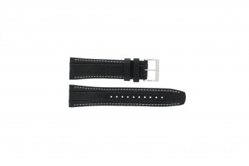 Watch strap Seiko 7T62-0HL0 / SNAB55P1 Leather Black 24mm