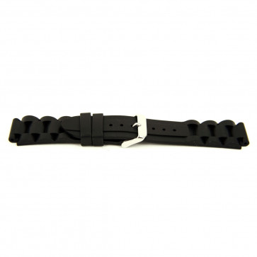 Watch strap Rubber 24mm Black EX K63 26 1 24