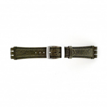 Watch strap Swatch SC14.11 Leather Green 19mm