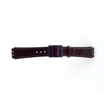 Watch strap Swatch SC04.02 Leather Brown 17mm