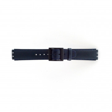 Watch strap Swatch SC11.05 Leather Blue 17mm