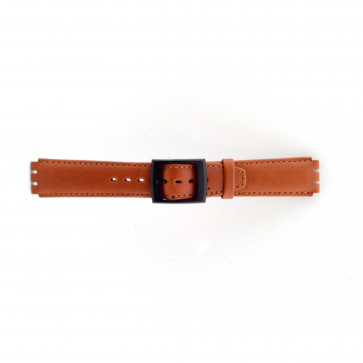 Watch strap Swatch SC11.03 Leather Brown 17mm