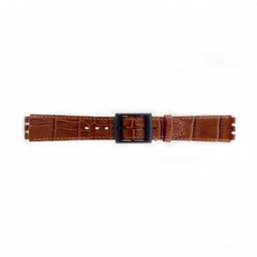 Watch strap for Swatch croco brown 16mm PVK-SC16.03