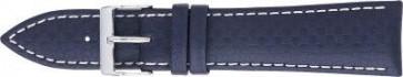 Carbon watch strap dark blue with white stitching 24mm PVK-321