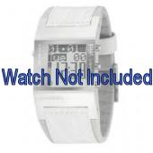 Watch strap Diesel DZ7043 Leather White 24mm