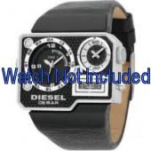 Watch strap Diesel DZ7101 Leather Black 39mm