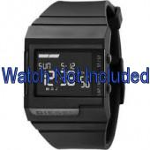 Diesel watch strap DZ7150 Silicone Black 23mm