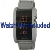 Diesel watch strap DZ7163 Silicone Grey 24mm