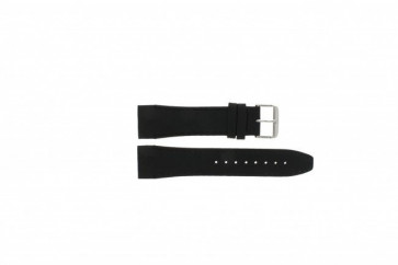 Tommy Hilfiger watch strap TH17-90-833 Leather Black 24mm + black stitching