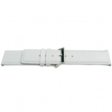 Watch strap Universal L505 Leather White 30mm