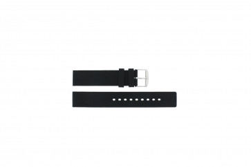 Watch strap 21901.01.18 / 6826 Silicone Black 18mm