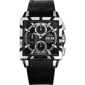 Watch strap Edox 348349-01105 / 222193 Rubber Black 27mm