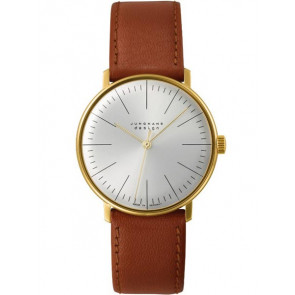 Watch strap Junghans 027/5703.00 Leather Light brown