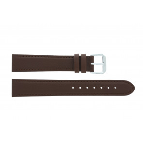 Watch strap 054.L02 XL Leather Brown 14mm + standard stitching