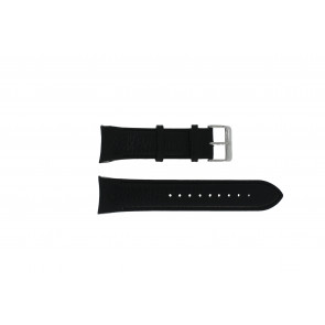 Swiss Military Hanowa watch strap 06-4278.04.001.07 Leather Black + black stitching