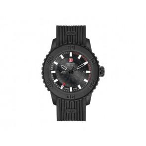 Watch strap Swiss Military Hanowa 6-4281.27.007 Twilight Silicone Black