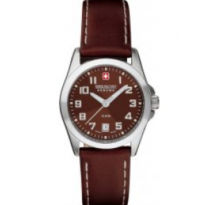 Watch strap Swiss Military Hanowa 06-6030.04.005.05 / 6-6030 Leather Brown 15mm
