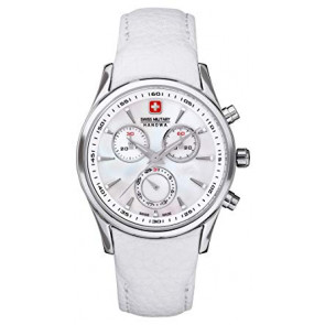 Watch strap Swiss Military Hanowa 06.6156.04.001-87 Leather White