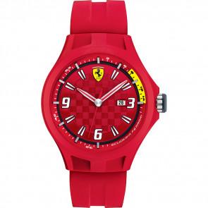 Watch strap Ferrari 0830007 / SF689300005 Rubber Red 22mm