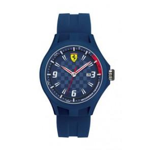 Watch strap Ferrari SF101.4 / 0830067 / SF689300097 Rubber Blue 22mm