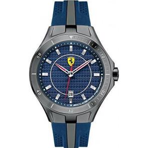 Ferrari watch strap SF103.7 / 0830081 / SF689300057 / Scuderia Rubber Blue 22mm