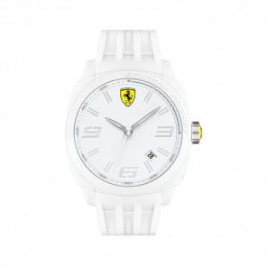 Ferrari watch strap SF113.1 / 0830113 / SF689300066 / Scuderia Rubber White 24mm