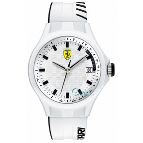 Ferrari watch strap SF101.6 / 0830124 / SF689300071 / Scuderia Silicone White 22mm