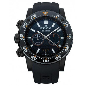 Watch strap Edox 10301 / Loc-22 Rubber Black