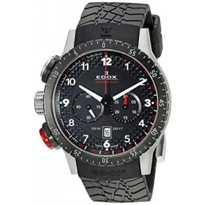 Watch strap Edox 10305 Rubber Black 23mm