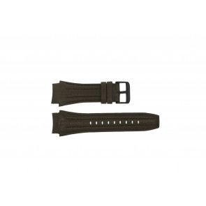 Police watch strap 13891JSB-12 Leather Brown 24mm + brown stitching
