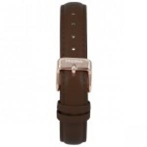 Watch strap Prisma 1441 Leather Dark brown 14mm