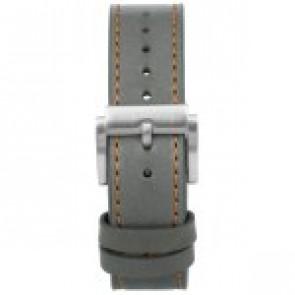 Watch strap Prisma 1591 Leather Grey 22mm