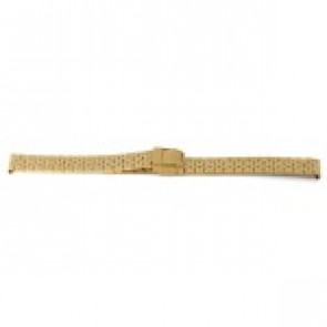 Watch strap Prisma 1691 Stainless steel Gold plated 16mm