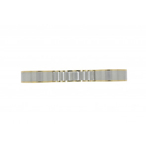 Watch strap 16BI Metal Silver 16mm