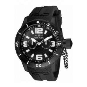 Watch strap Invicta 1794.01 Rubber Black 24mm