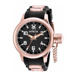 Watch strap Invicta 17948 Rubber Black