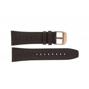 Lotus watch strap 18015 Leather Brown 26mm + brown stitching