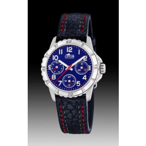Watch strap Lotus 18583-2 Leather Blue 18mm