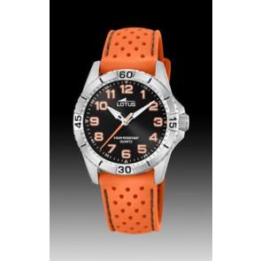 Watch strap Lotus 18663-1 Silicone Orange 18mm