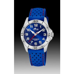 Watch strap Lotus 18663-2 Silicone Blue 18mm