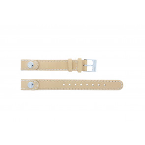 Lacoste watch strap 2000385 / LC-05-3-14-0009 / BE Leather Beige 12mm + standard stitching