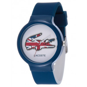 Lacoste watch strap LC-46-4-47-2502 / 2020072 / 20mm Rubber Blue 14mm