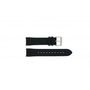Hugo Boss watch strap HB-232-1-27-2731 / HB1513087 Leather Black 22mm + black stitching