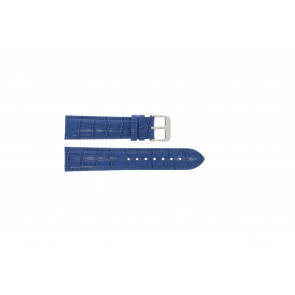 Watch strap Universal 285R.05 Leather Blue 18mm