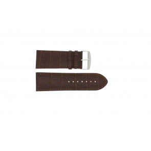 Watch strap Universal 305.02 Leather Brown 28mm