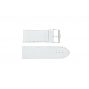 Watch strap Universal 305R.09 Leather White 26mm